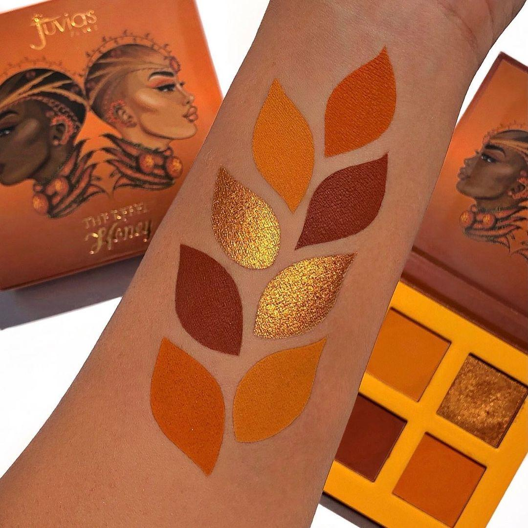 Juvia's Place The Rebel Eyesadow Palettes The Rebel Honey Arm Swatches