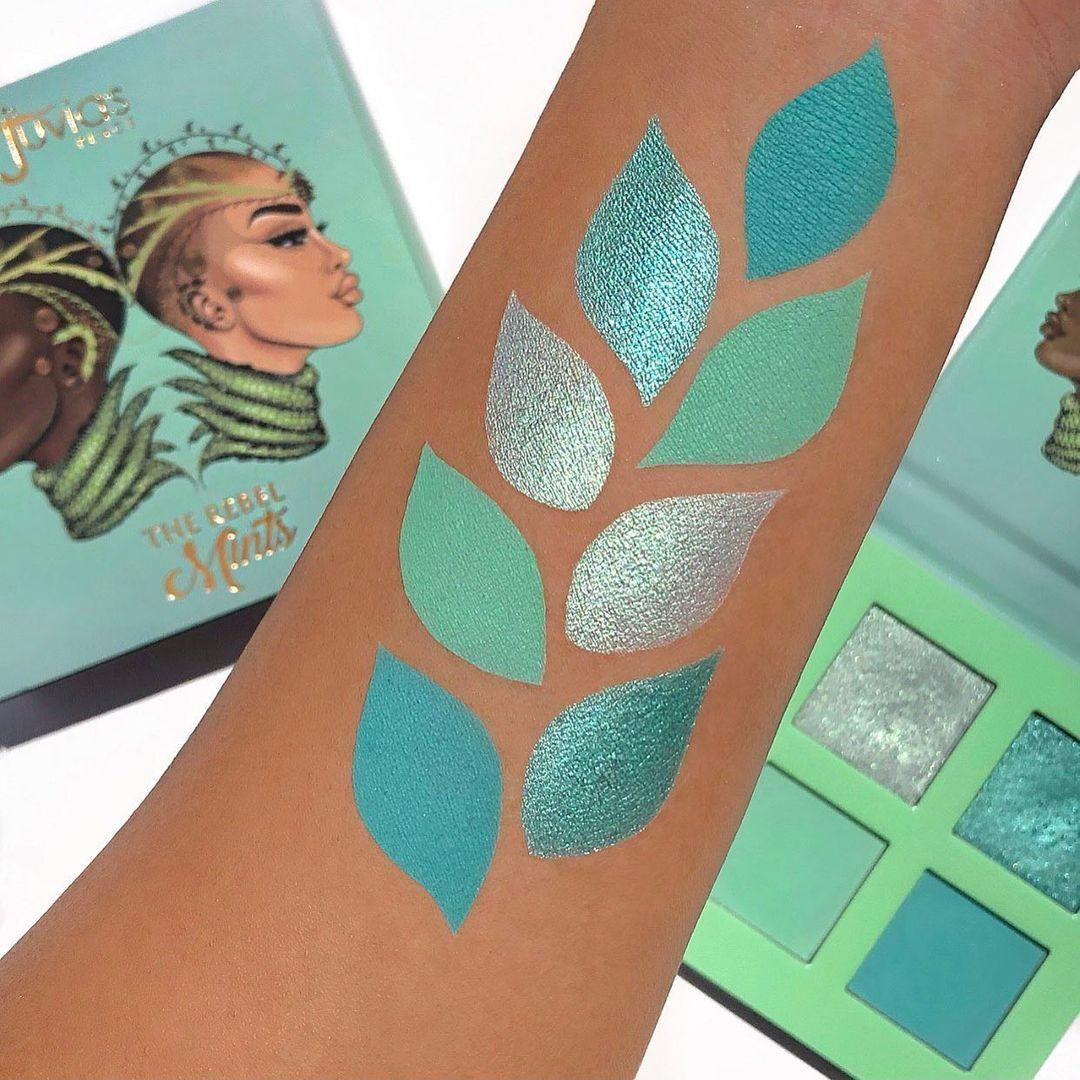 Juvia's Place The Rebel Eyesadow Palettes The Rebel Mint Arm Swatches