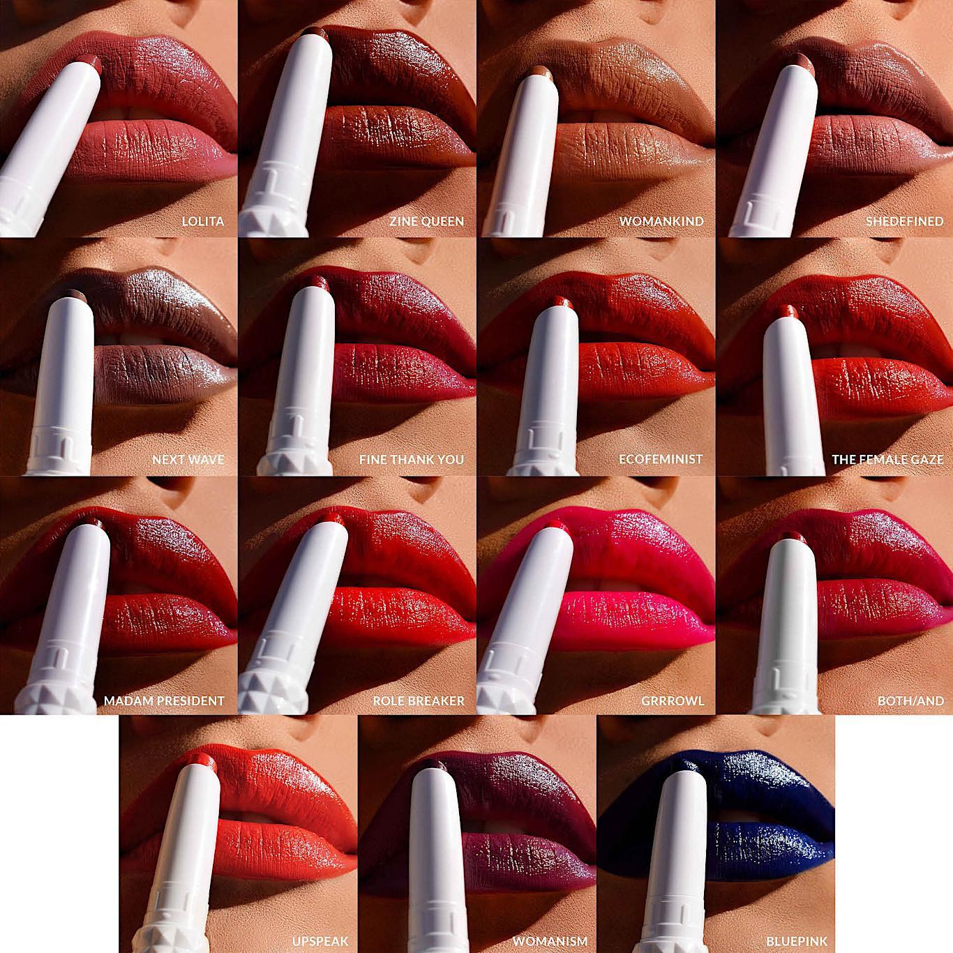 KVD Beauty Epic Kiss Nourishing Vegan Butter Lipstick Lip Swatches Collage Light