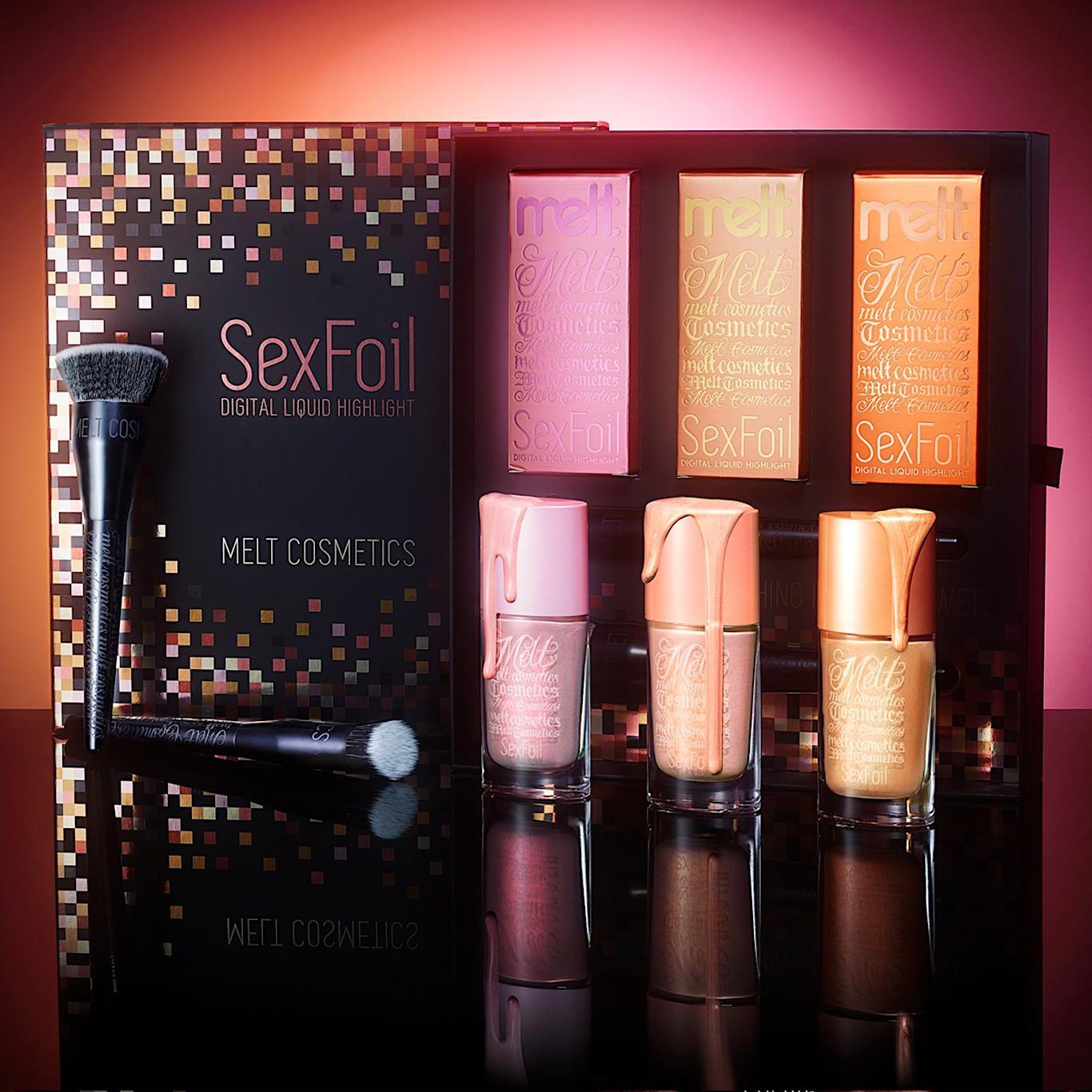 Melt Cosmetics SexFoil Digital Liquid Highlights Light SexFoils Set Promo
