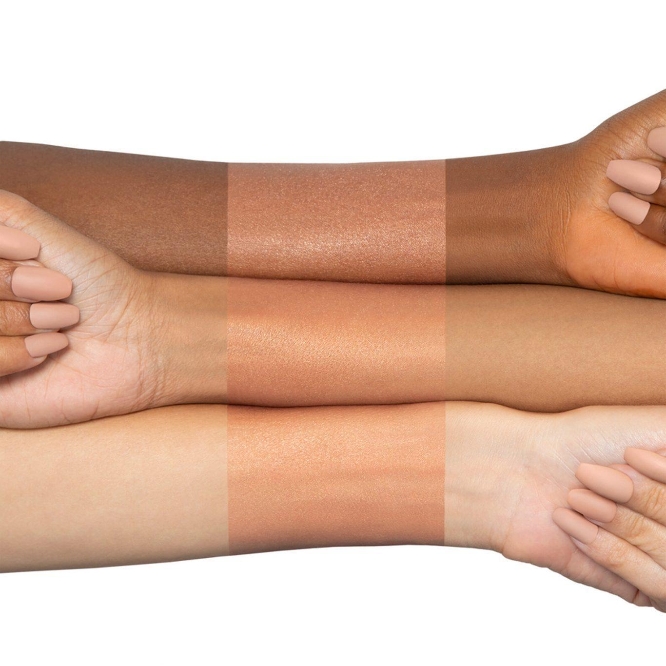 N.Y.M.P.H. All Over Glow Helios Arm Swatches