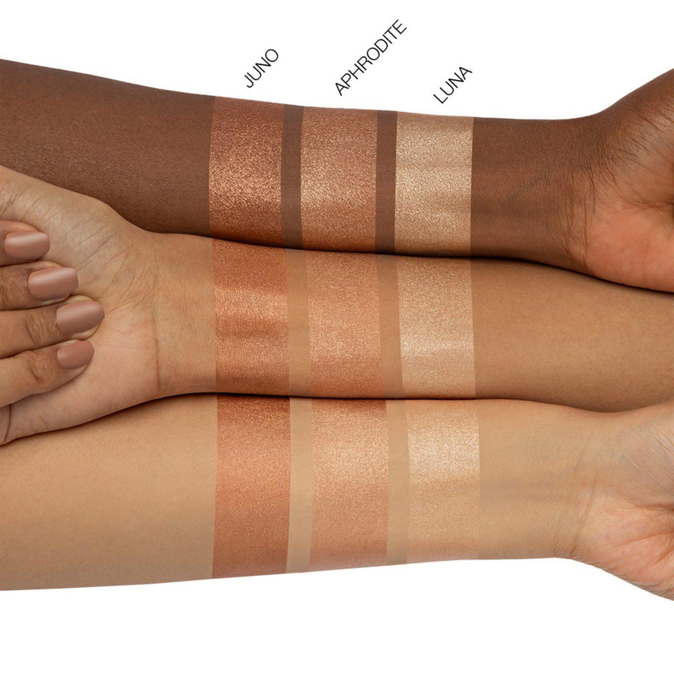 N.Y.M.P.H. GLAZE Skin Glowing Perfector Arm Swatches