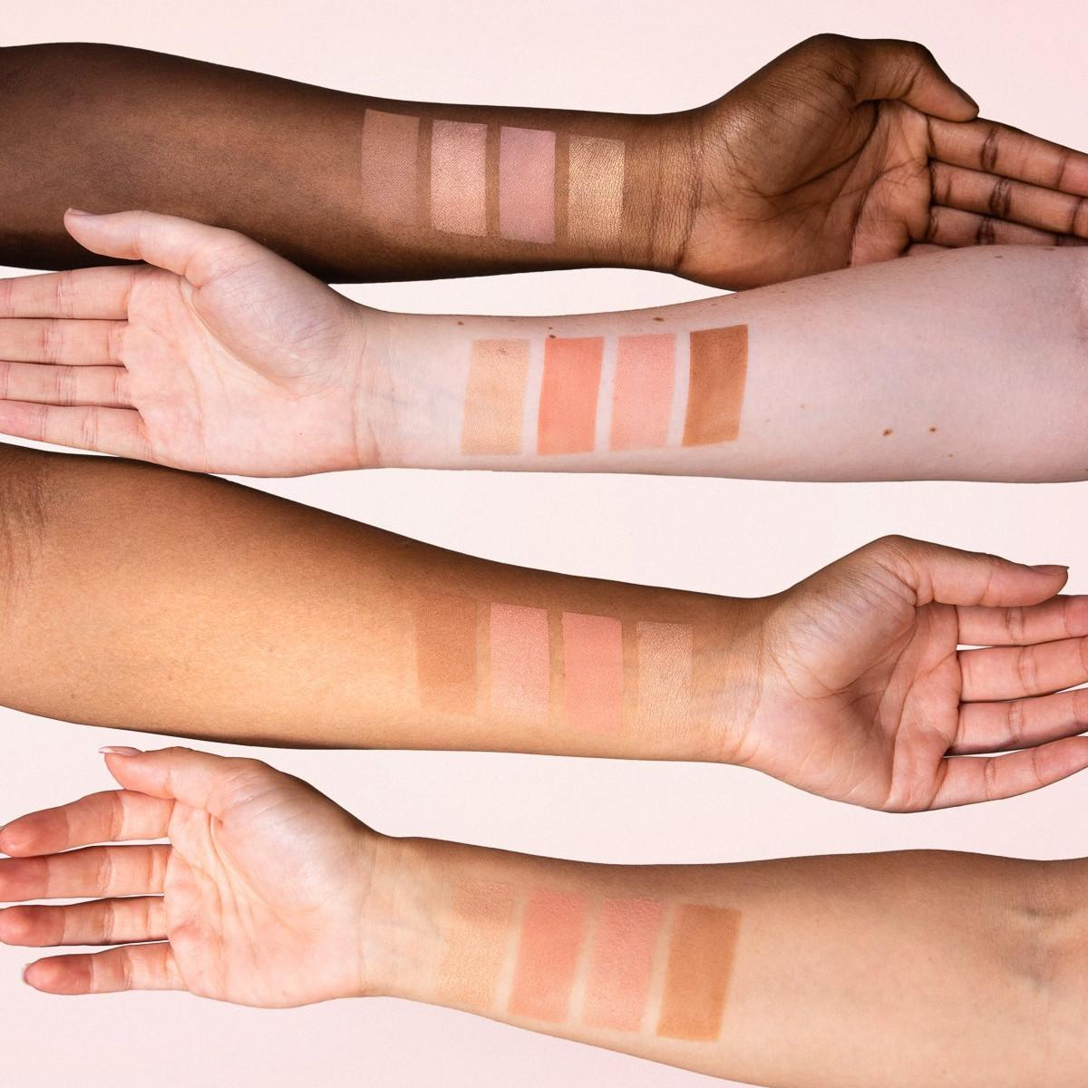 ZOEVA Cosmetics Together We Grow Face Palette Arm Swatches